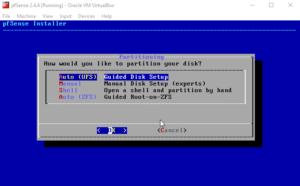 Instale o VirtualBox do pfSense 2.4.4