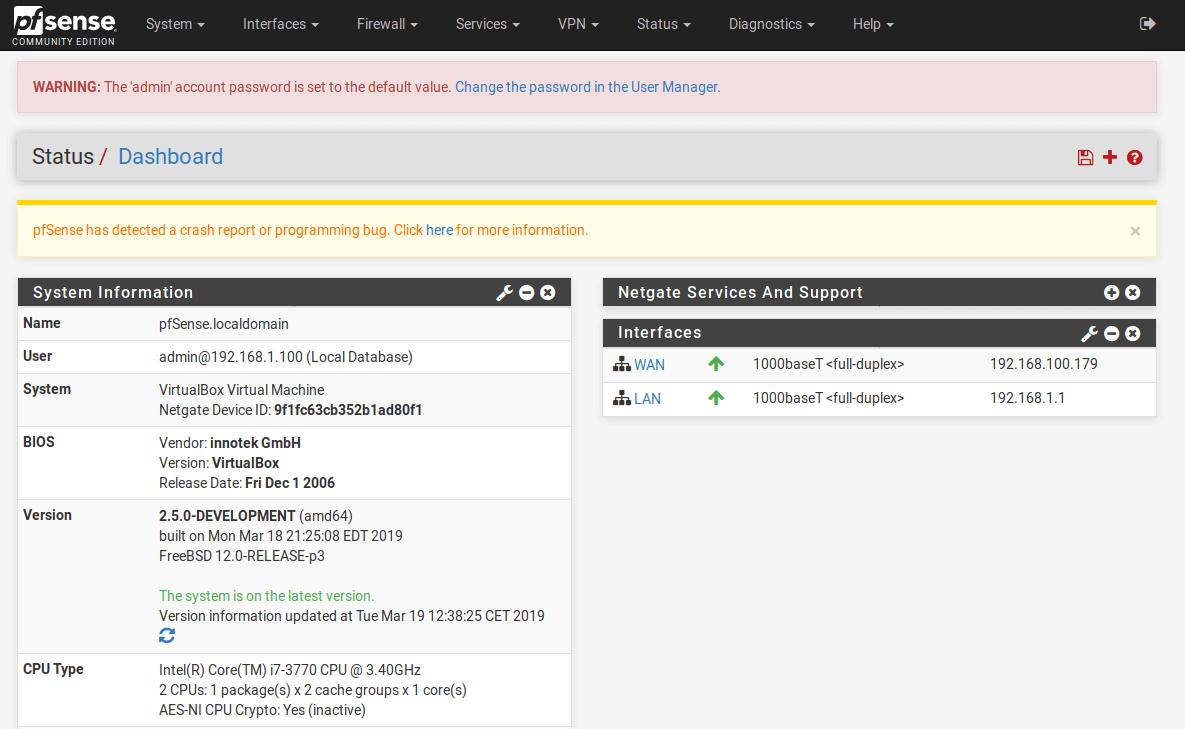 dashboard-pfsense